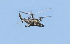 Обои вертолёт, ОКБ Камова, Чёрная акула, Ка-50, Россия, ударный, Hokum A, одноместный