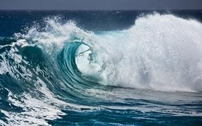 Картинка волны, пена, вода, брызги, океан