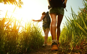 Картинка nature, excursion, walking, outdoors, backpacks
