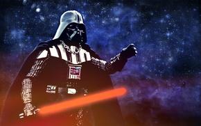 Обои Darth Vader, Star Wars, световой меч