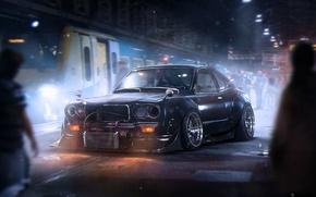 Картинка Dark, Mazda, Black, Tuning, Future, Savanna, by Khyzyl Saleem, RX-3