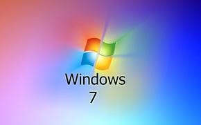 Картинка компьютер, обои, логотип, windows 7, эмблема, операционная система