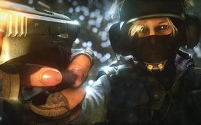 Картинка боец, гш-18, Rainbow six: Siege, пистоле