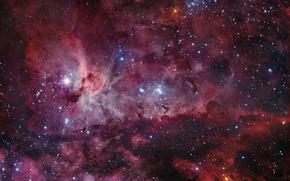 Обои звезды, туманность, Вселенная, NGC 3372, Киль