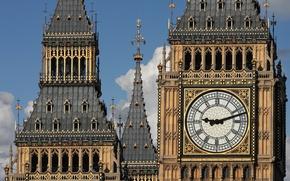 Картинка London, England, Big Ben, towers, spires