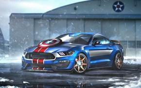 Обои авто, Форд, Мустанг, Superheroes, auto, супергерой, Marvel, Капитан Америка, Captain America, Марвел, Ford Mustang Shelby ...