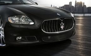 Обои Мазератти, решетка, Maserati, логотип