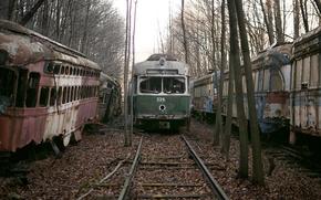 Картинка дорога, трамвай, лом