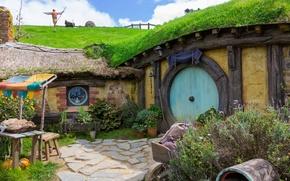 Картинка дом, Новая Зеландия, Hobbit Hole