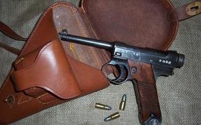 Картинка пистолет, оружие, японский, самозарядный, Тип 14, Намбу