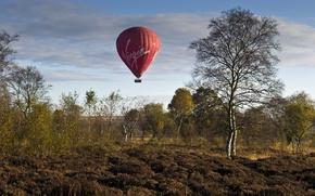 Картинка осень, небо, воздушный шар, спорт