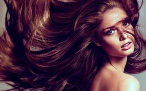 Картинка Girl, hot, eyes, women, hair
