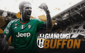 Картинка wallpaper, sport, logo, football, player, Gianluigi Buffon, Juventus FC, Juventus Stadium