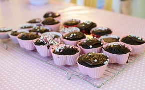 Картинка шоколад, крем, десерт, выпечка, кексы