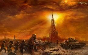 Картинка москва, разруха, постапокалипсис, наследие, сергей тармашев, мутанты.