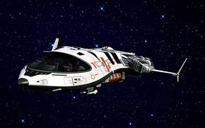 Картинка пространство, корабль, звёзды, форма
