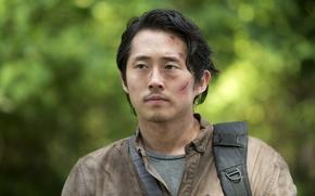 Обои Ходячие мертвецы, Glenn, Steven Yeun, The Walking Dead