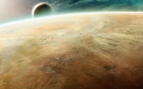 Обои космос, Warhammer, пустынная, 40000, планета, спутник, атмосфера