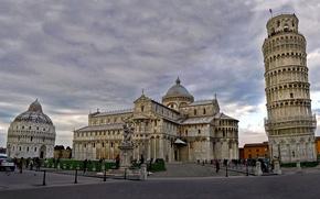 Картинка Италия, собор, Пиза, падающая башня