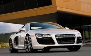 Обои Audi R8, белая