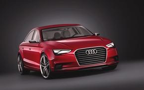 Картинка Audi, Красный, Авто, Машина, Капот, Фары, Передок