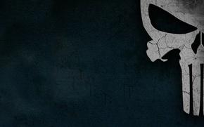 Картинка череп, минимализм, the punisher, каратель