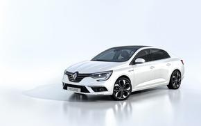 Картинка белый фон, Renault, рено, меган, Megane