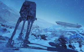 Картинка зима, снег, Electronic Arts, Star Wars Battlefront