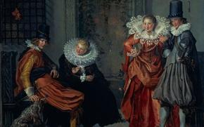 Картинка картина, жанровая, Сцена Ухаживания, Виллем Бёйтевех