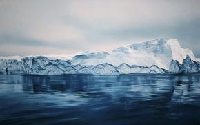 Картинка холод, море, вода, снег, лёд, айсберг, льдина, zaria forman