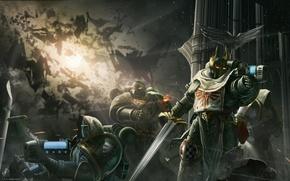 Картинка оружие, войны, броня, Warhammer 40K, the Dark Angels