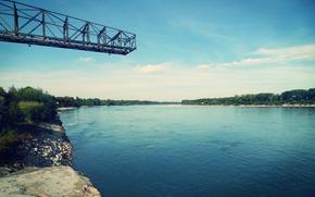 Картинка river, landscape, beautiful, Rhein