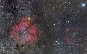 Картинка туманность, эмиссионная, IC 1396, в Цефее