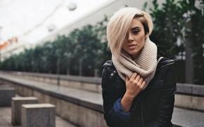 Обои alysha nett, блондинка, модель, взгляд