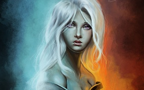 Картинка девушка, фон, A Song of Ice and Fire, Игра Престолов, Песнь Льда и Огня, Game …