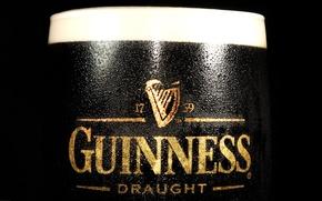 Обои guinness, пиво, черный