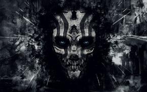 Картинка смерть, тьма, череп, демон, разрушение, зло, дьявол, hell