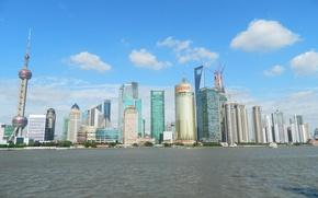 Картинка China, Shanghai, City, Skyline, Skyscraper