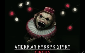 Картинка monkey, digital art, american horror story, circus, fan poster, freak show