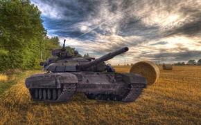 Картинка Закат, Осень, Украина, Т-64, ЗСУ, Булат