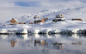 Картинка дома, деревня, Гренландия