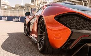 Картинка оранжевый, McLaren, суперкар, МакЛарен