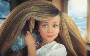 Картинка волосы, девочка, Rapunzel