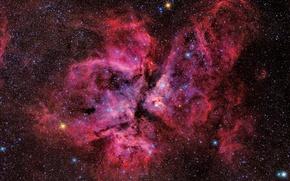 Картинка находящаяся, звёздная система, Эта Киля, Eta Carinae, в созвездии Киля