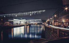 Картинка река, улица, вечер, Питер, Санкт-Петербург, Россия, Russia, спб, St. Petersburg, spb, фонтанки