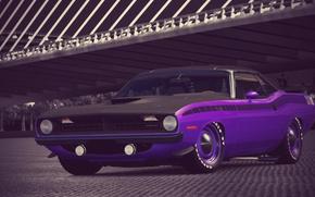 Картинка Purple, 1970, 340, Plymouth, Six, Cuda, AAR, Gran Turismo 6, Barrel