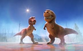 Картинка cinema, Disney, sky, eyes, movie, animal, friendship, fang, leaf, film, T-Rex, konoha, vegetation, adventure, sugoi, ...
