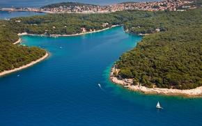Картинка море, Хорватия, Ядран, острова, Mali Losinj, Cikat bay