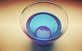 Картинка вода, синий, капля, минимализм, minimalism, blue, drop, water