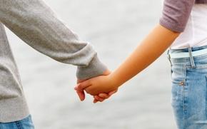 Обои руки, дружба, она, ладони